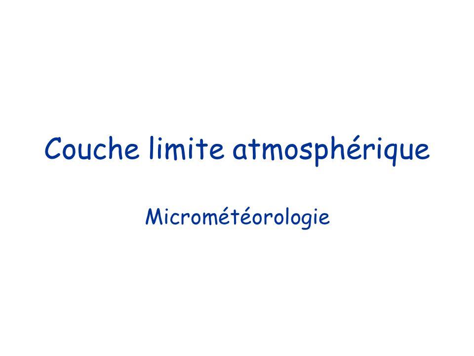 Couche limite atmosphérique