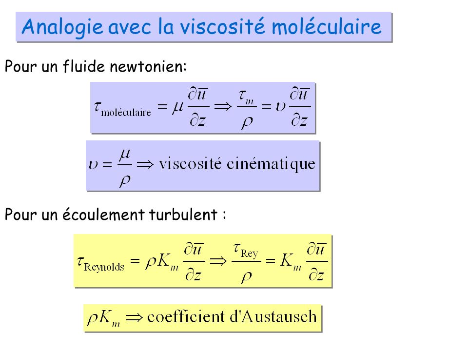 Analogie avec la viscosité moléculaire