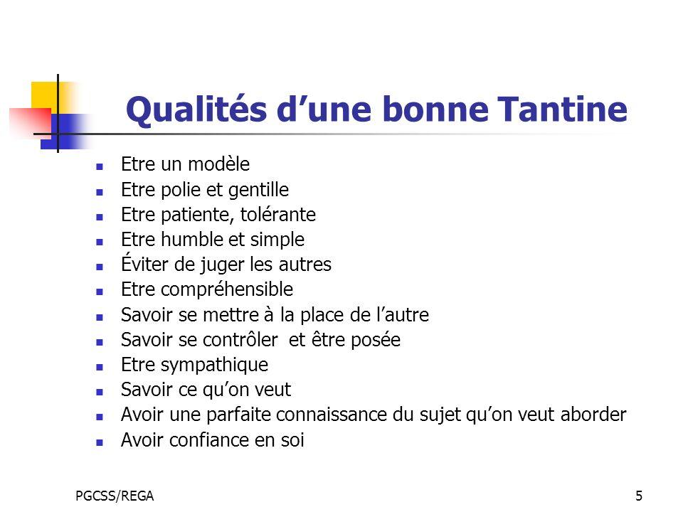 Qualités d'une bonne Tantine