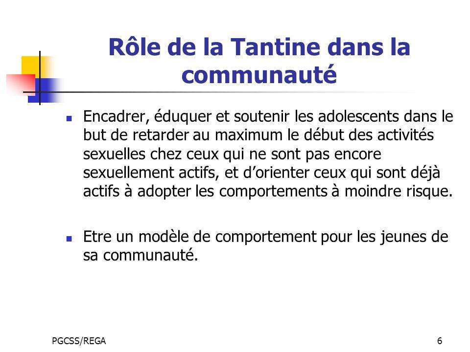 Rôle de la Tantine dans la communauté