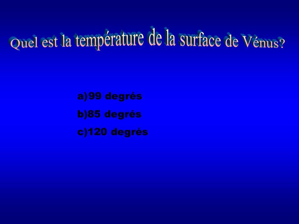 Quel est la température de la surface de Vénus