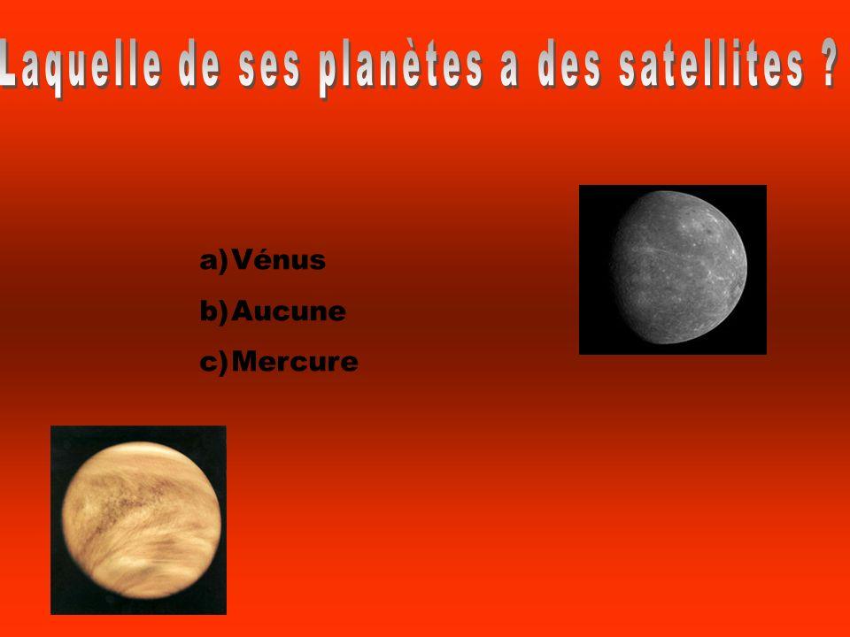 Laquelle de ses planètes a des satellites