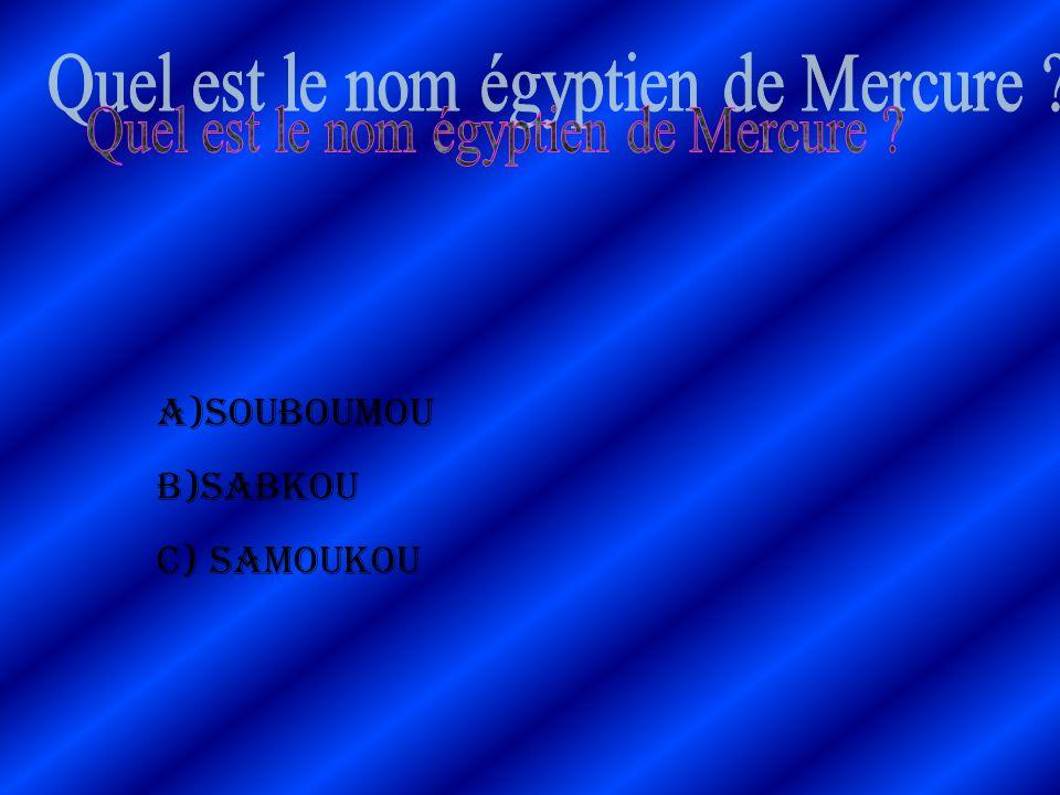 Quel est le nom égyptien de Mercure
