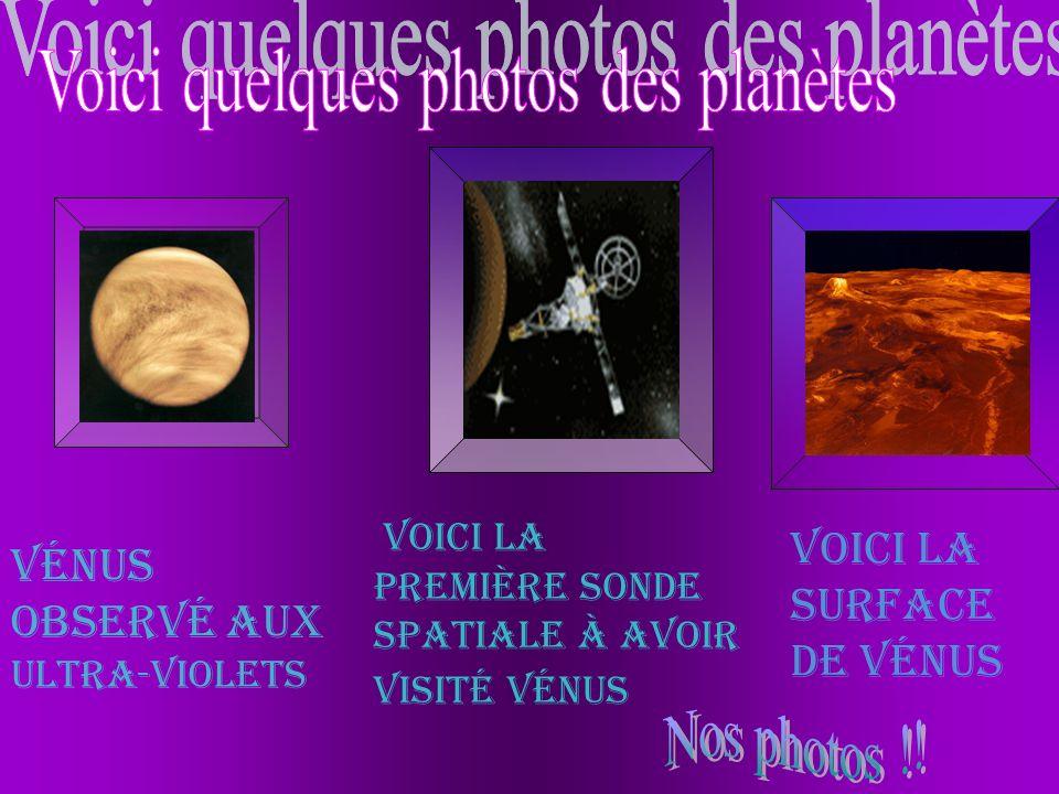 Voici quelques photos des planètes