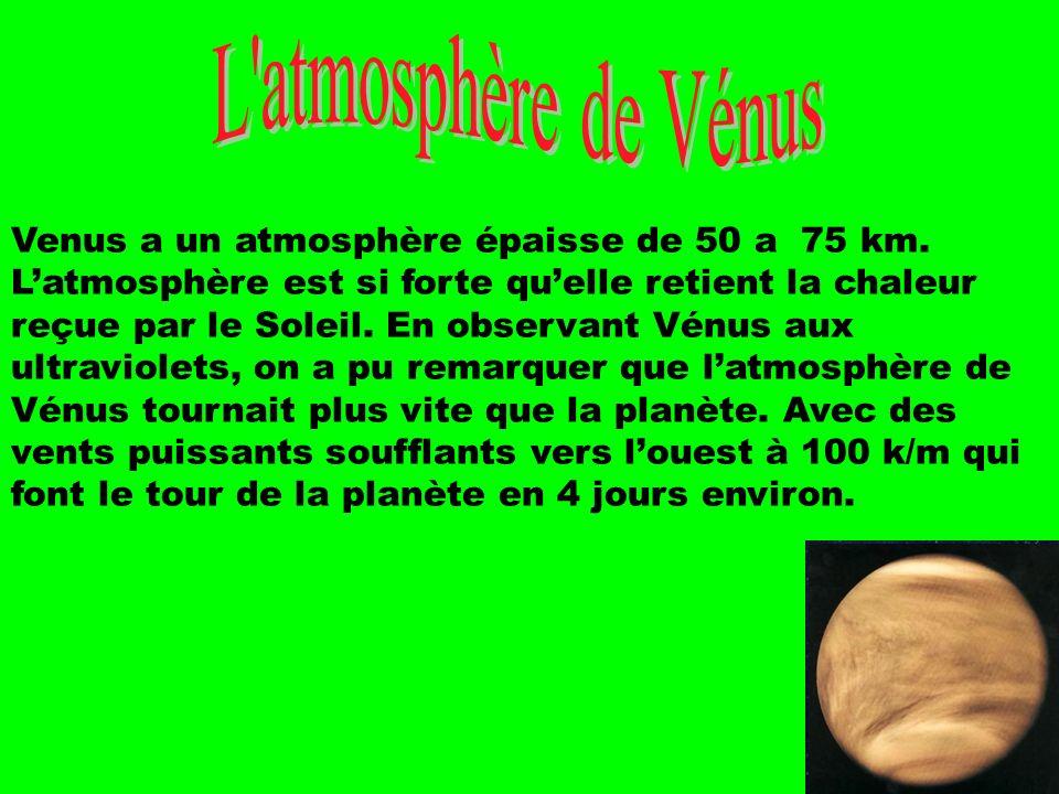 L atmosphère de Vénus