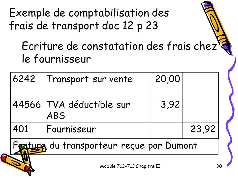 Exemple de comptabilisation des frais de transport doc 12 p 23