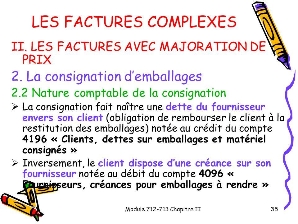 LES FACTURES COMPLEXES