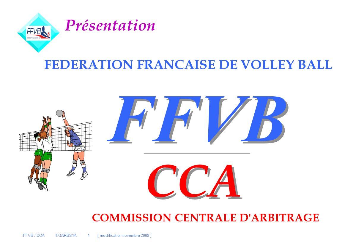 FFVB CCA Présentation FEDERATION FRANCAISE DE VOLLEY BALL