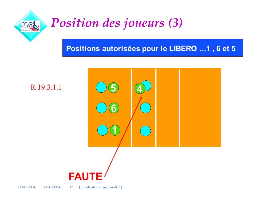 Position des joueurs (3)