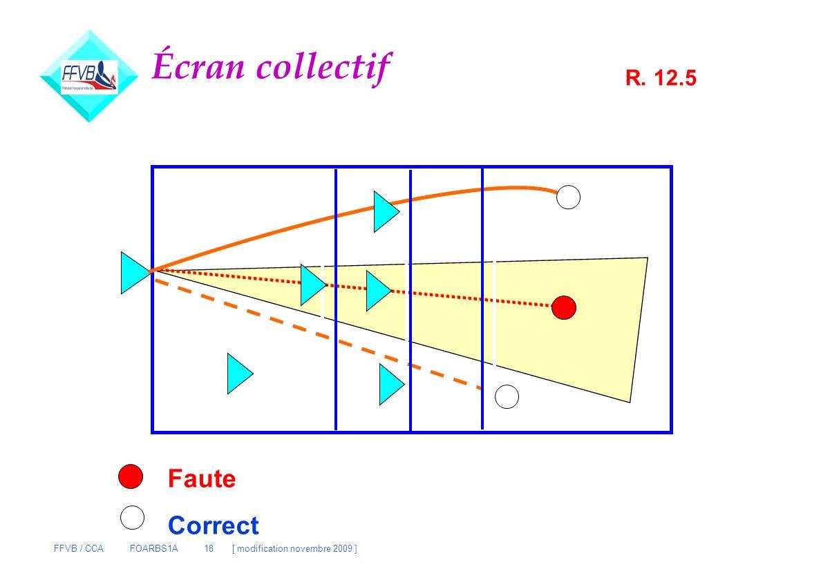 Écran collectif R. 12.5 Faute Correct