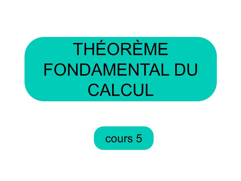 THÉORÈME FONDAMENTAL DU CALCUL
