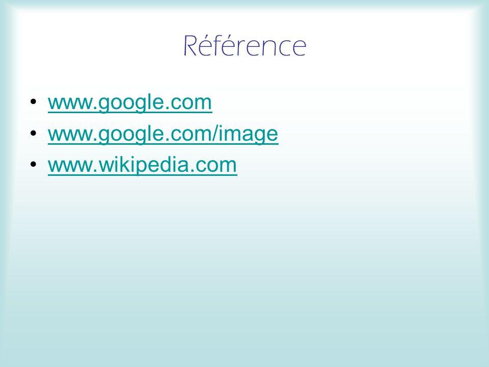 Référence www.google.com www.google.com/image www.wikipedia.com Myriam