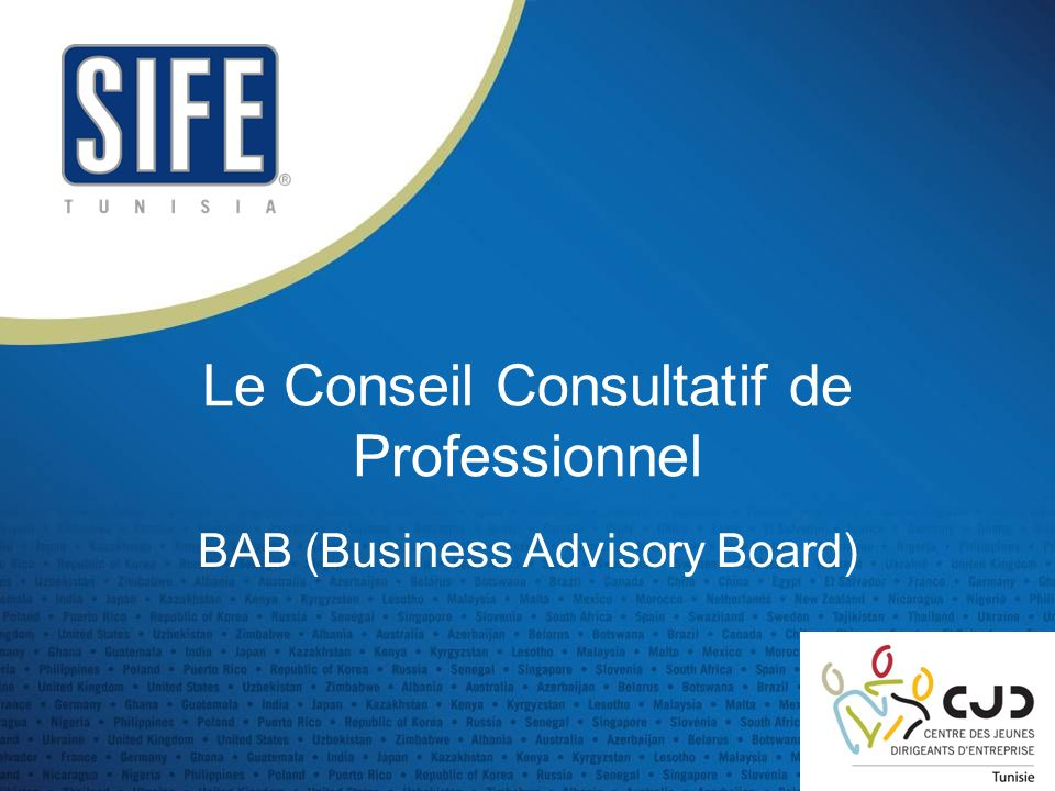 Le Conseil Consultatif de Professionnel
