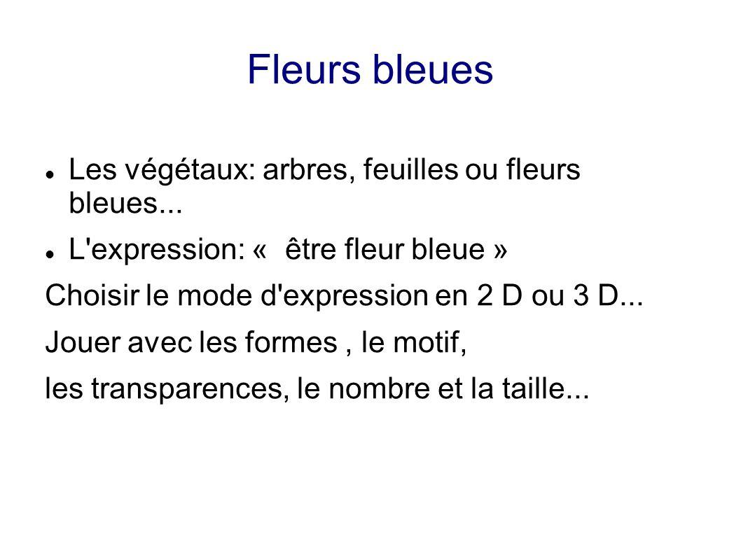 Fleurs bleues Les végétaux: arbres, feuilles ou fleurs bleues...