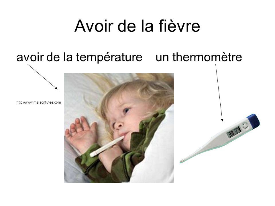 Avoir de la fièvre avoir de la température un thermomètre