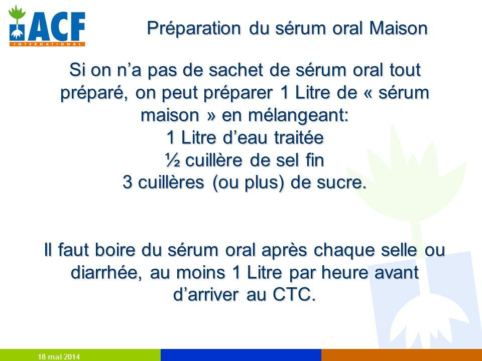 Préparation du sérum oral Maison