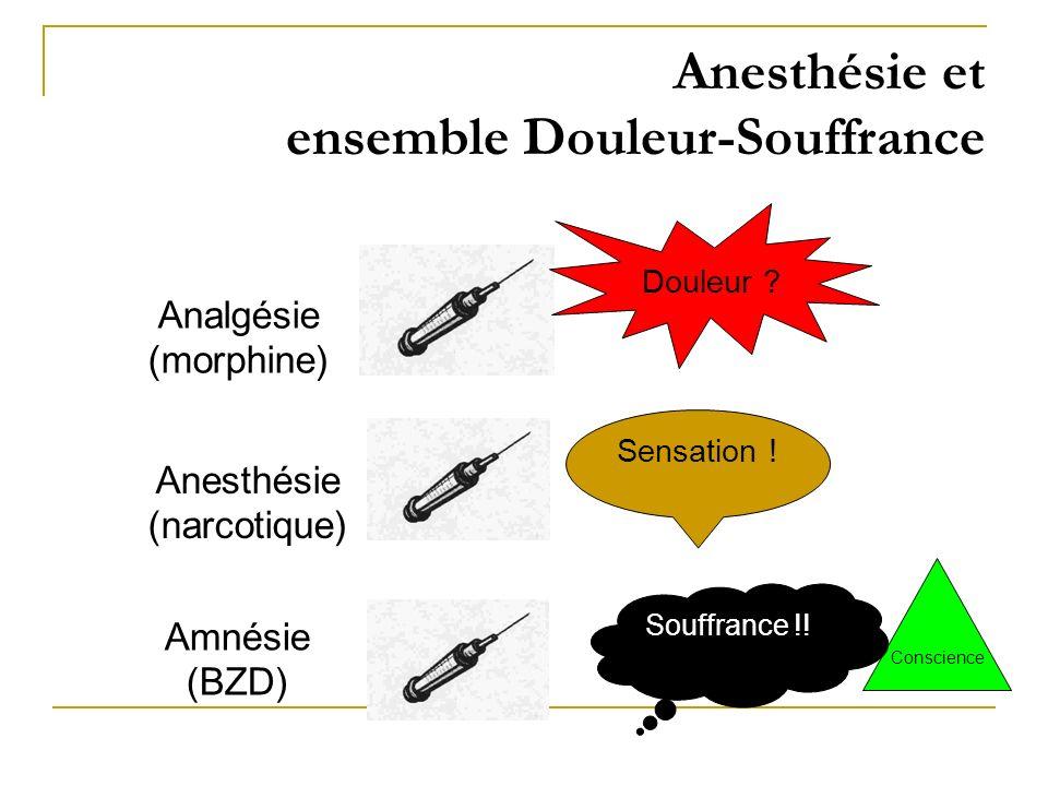 Anesthésie et ensemble Douleur-Souffrance