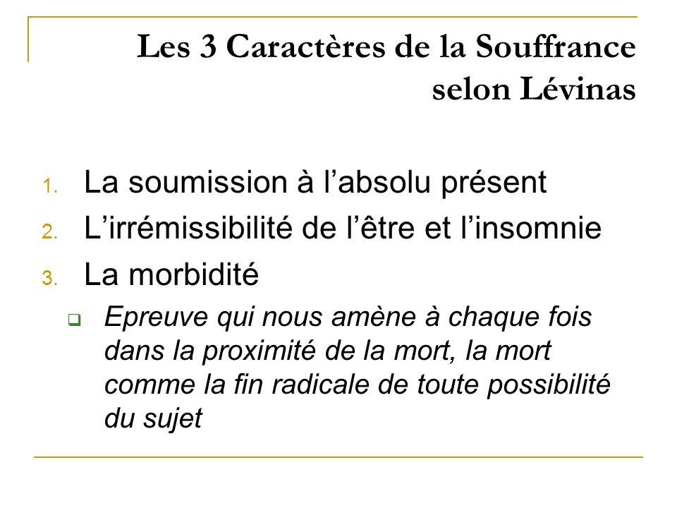 Les 3 Caractères de la Souffrance selon Lévinas