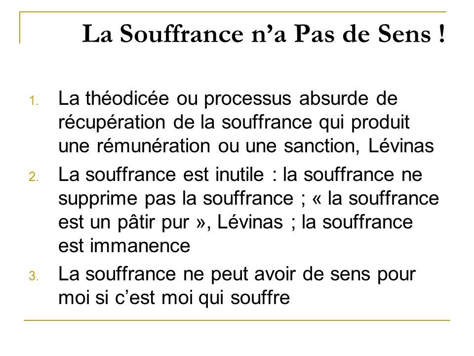 La Souffrance n'a Pas de Sens !