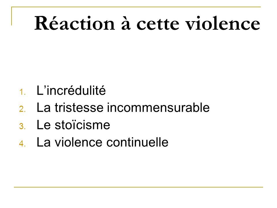 Réaction à cette violence