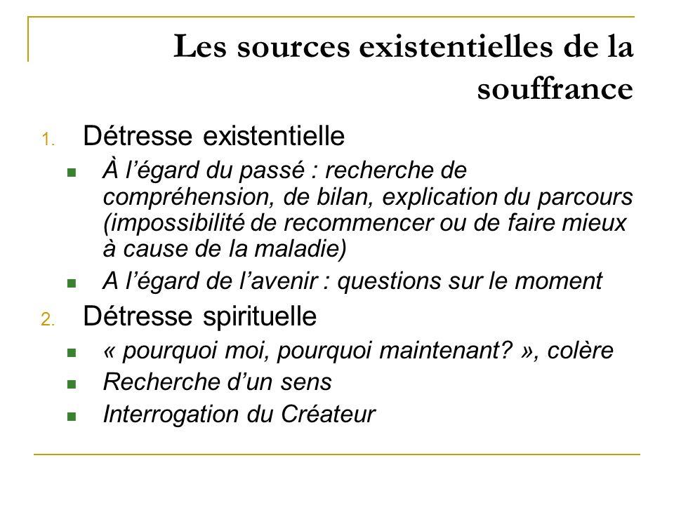 Les sources existentielles de la souffrance
