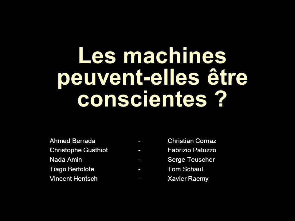 Les machines peuvent-elles être conscientes