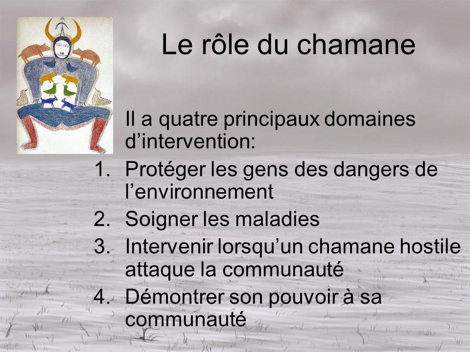 Le rôle du chamane Il a quatre principaux domaines d'intervention:
