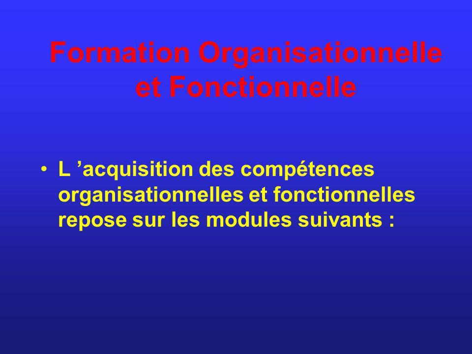 Formation Organisationnelle et Fonctionnelle