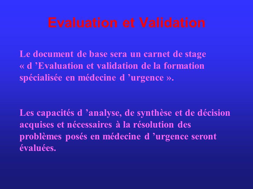 Evaluation et Validation