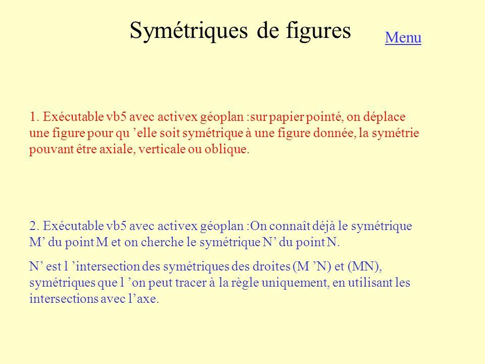 Symétriques de figures