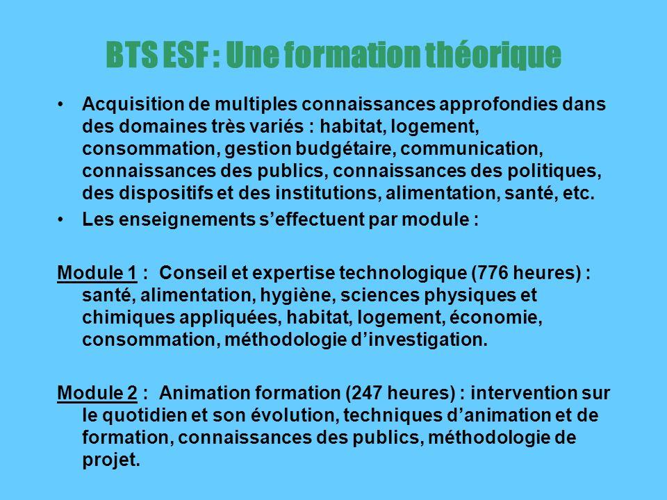 BTS ESF : Une formation théorique