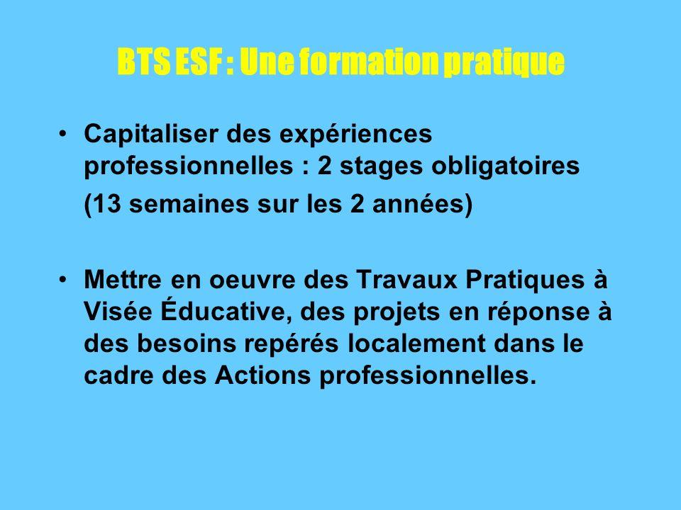 BTS ESF : Une formation pratique