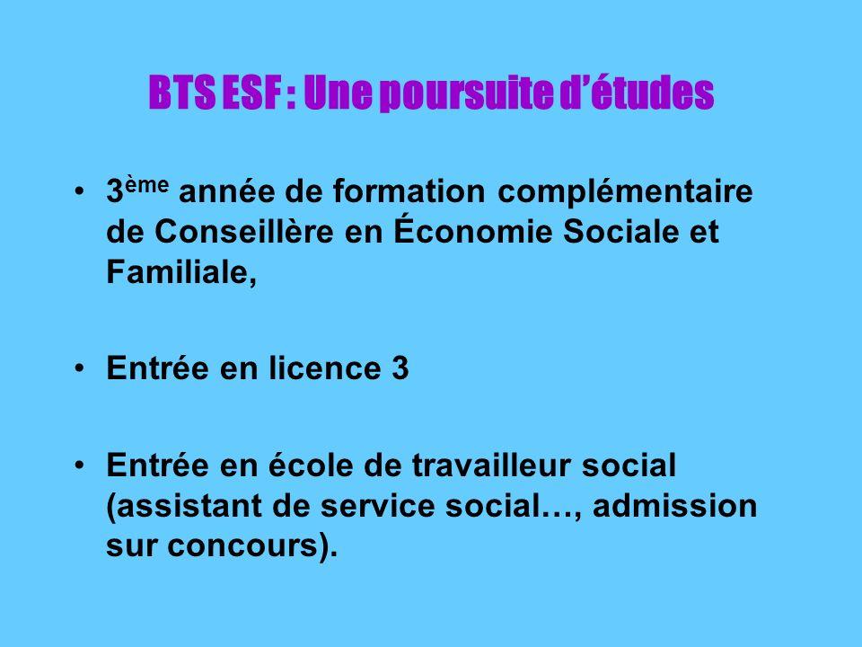 BTS ESF : Une poursuite d'études