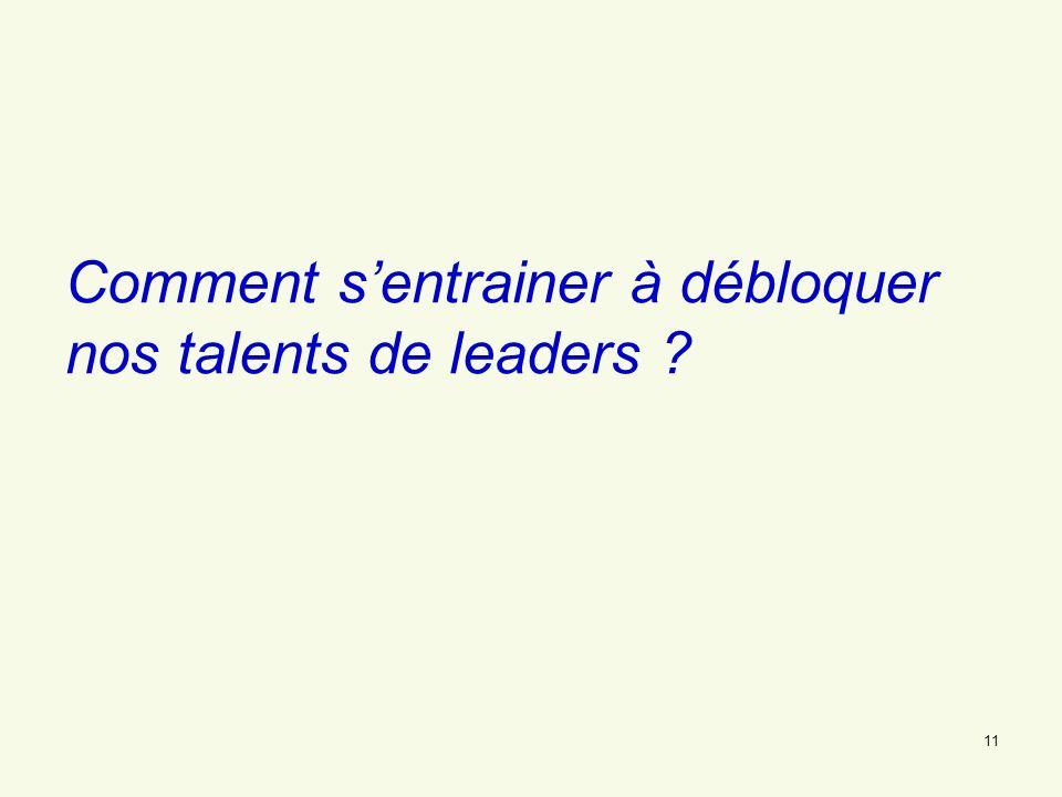 Comment s'entrainer à débloquer nos talents de leaders