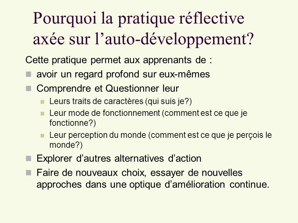Pourquoi la pratique réflective axée sur l'auto-développement