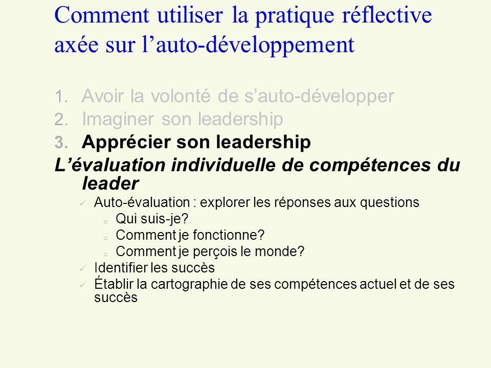 Comment utiliser la pratique réflective axée sur l'auto-développement