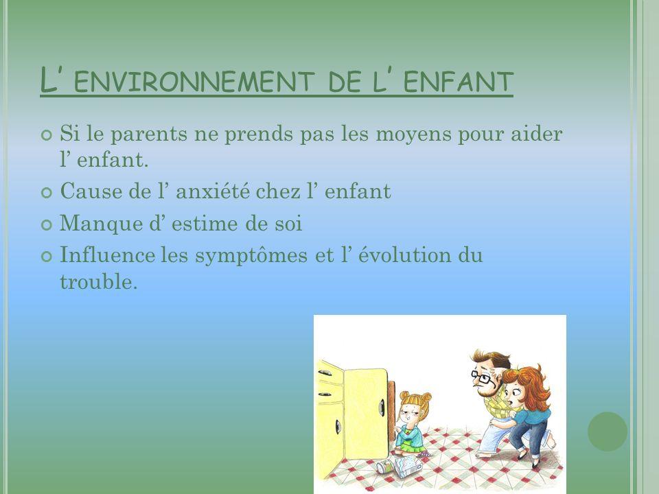 L' environnement de l' enfant
