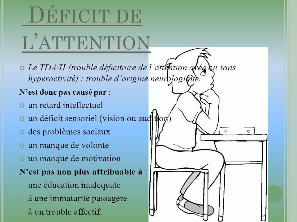 Définition : Déficit de l'attention