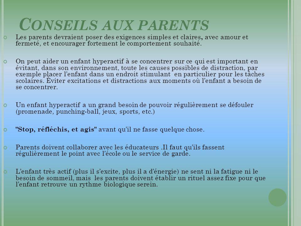 Conseils aux parents