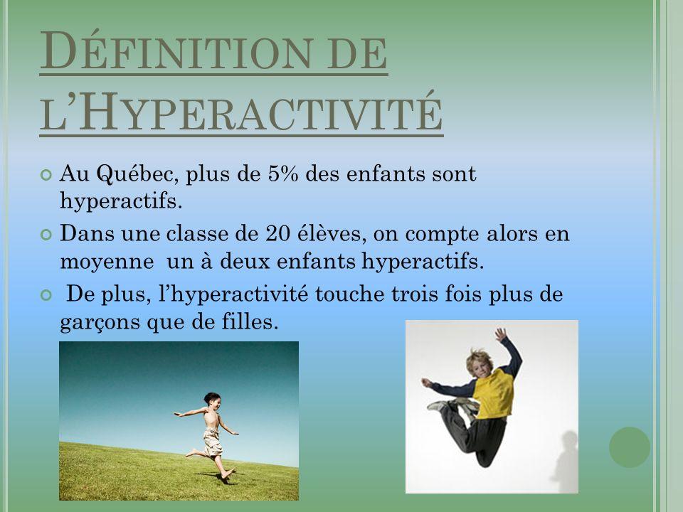 Définition de l'Hyperactivité