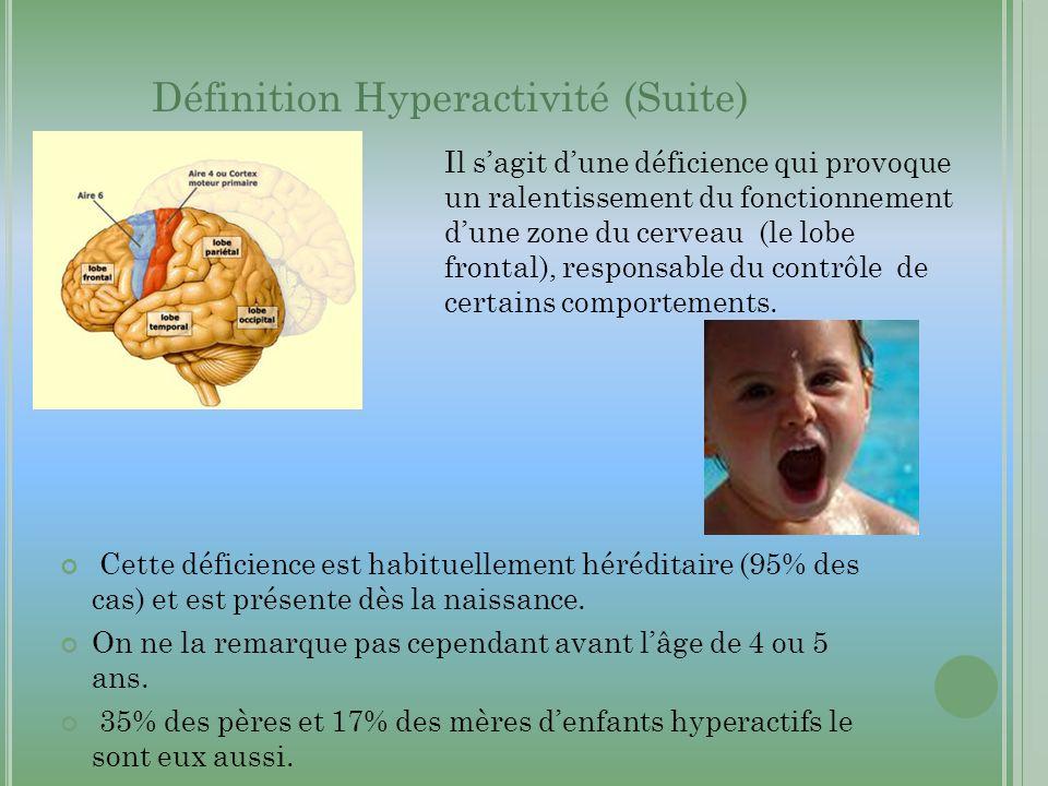 Définition Hyperactivité (Suite)