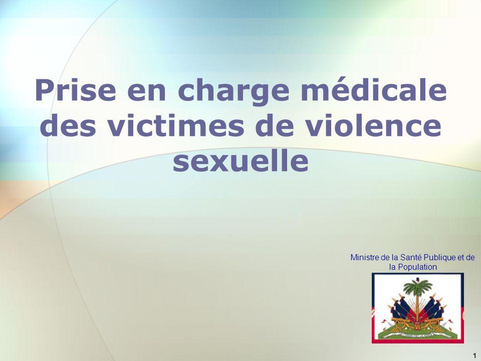 Prise en charge médicale des victimes de violence sexuelle
