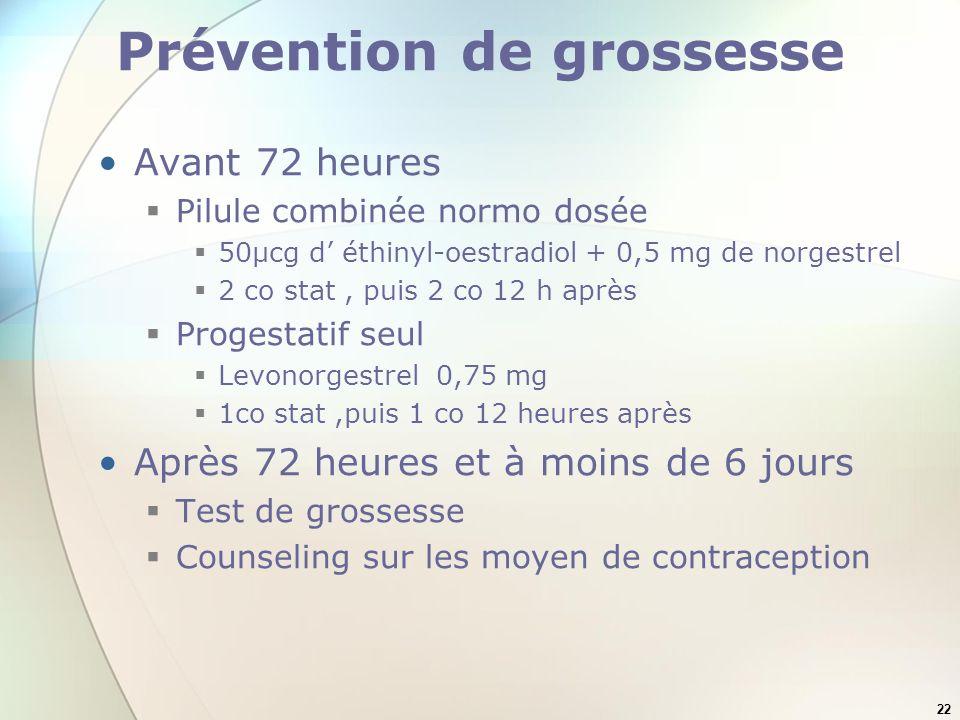 Prévention de grossesse