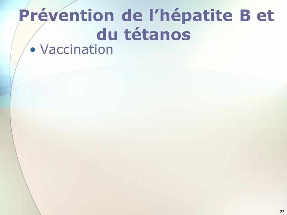Prévention de l'hépatite B et du tétanos