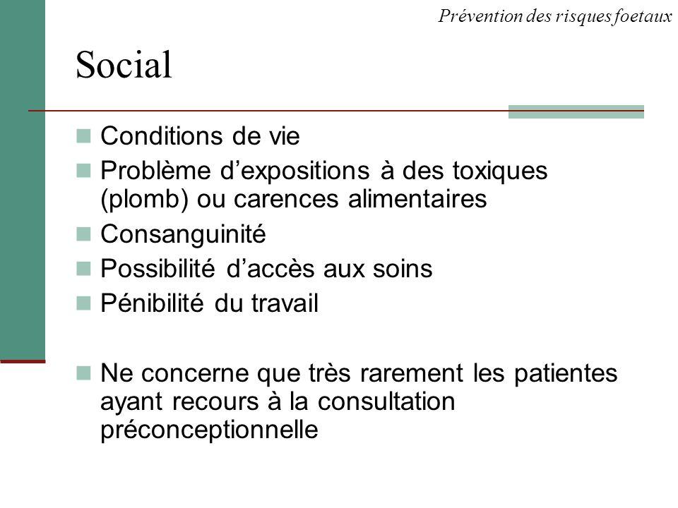 Social Conditions de vie
