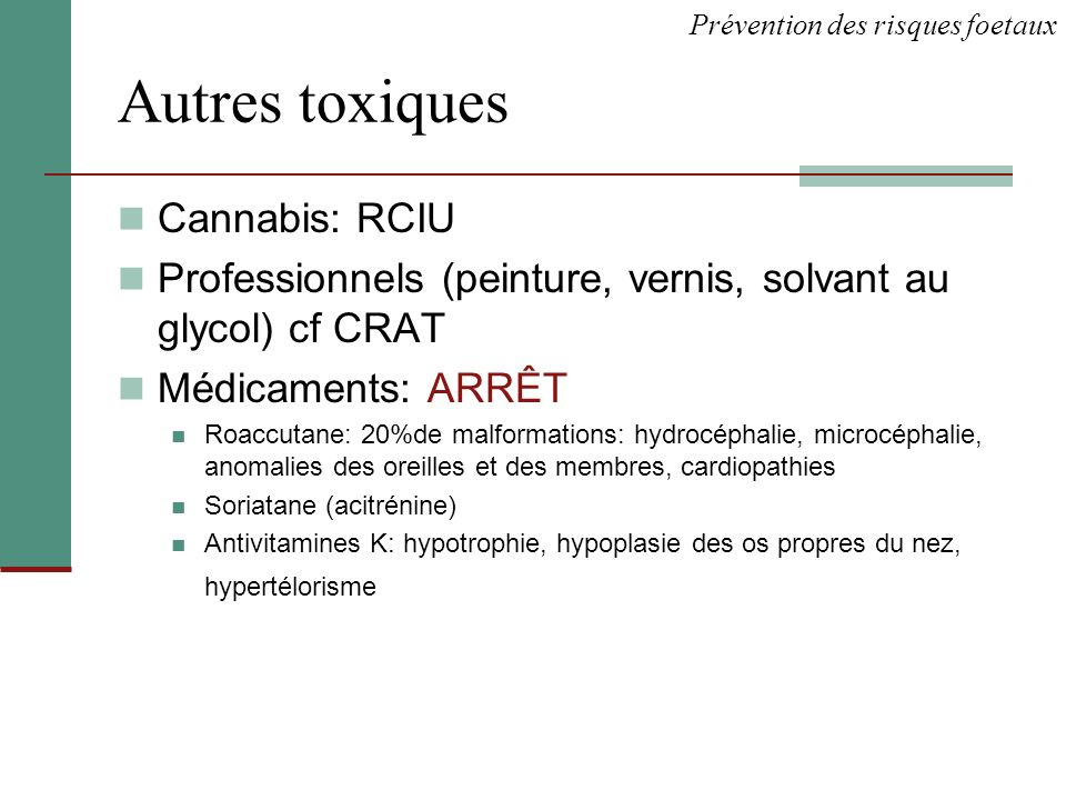 Autres toxiques Cannabis: RCIU
