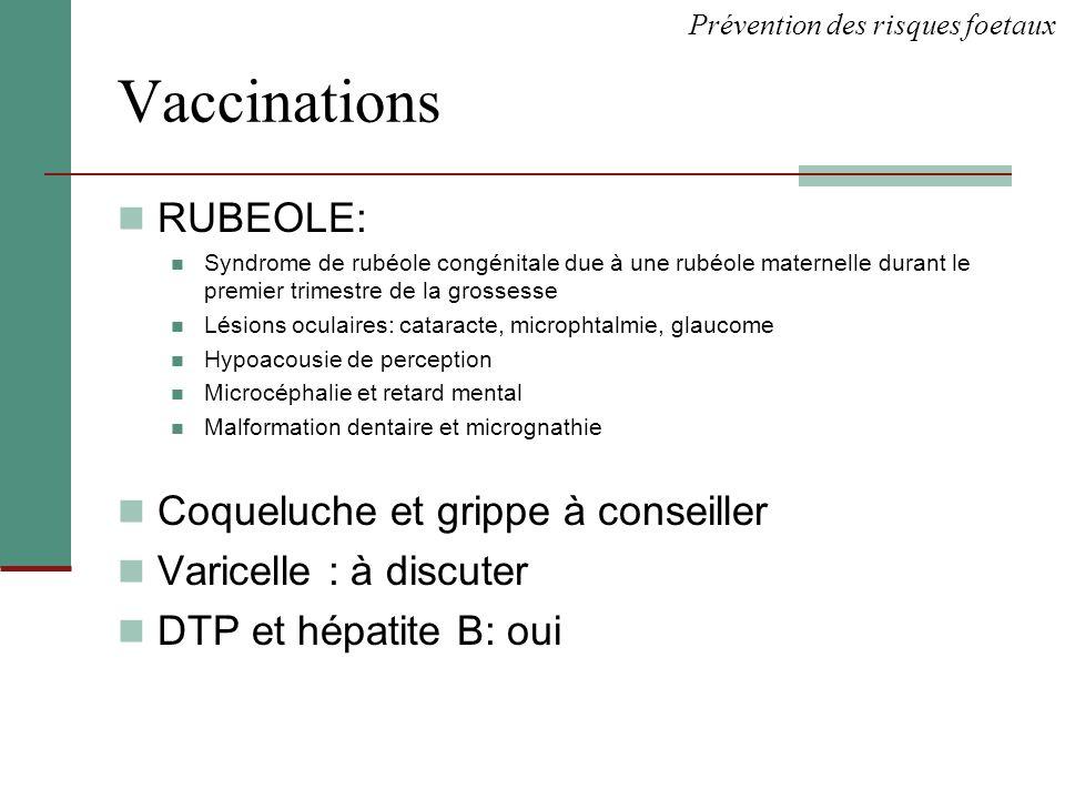 Vaccinations RUBEOLE: Coqueluche et grippe à conseiller