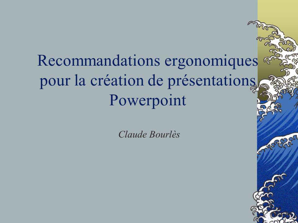 Recommandations ergonomiques pour la création de présentations Powerpoint