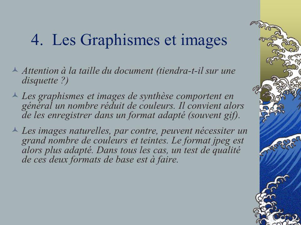 4. Les Graphismes et images