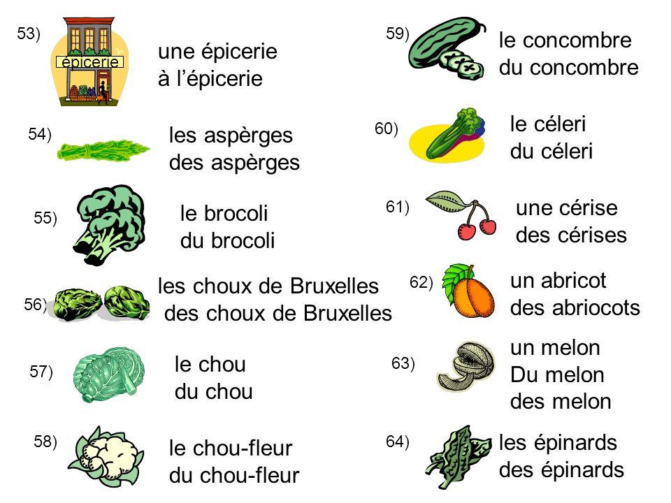 le concombre une épicerie du concombre à l'épicerie le céleri